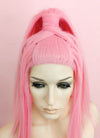 Pink Wavy Lace Front Synthetic Wig LF2056