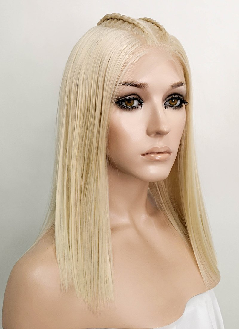 "Pastel Blonde Braided 13"" x 6"" Lace Front Synthetic Wig LF2060"