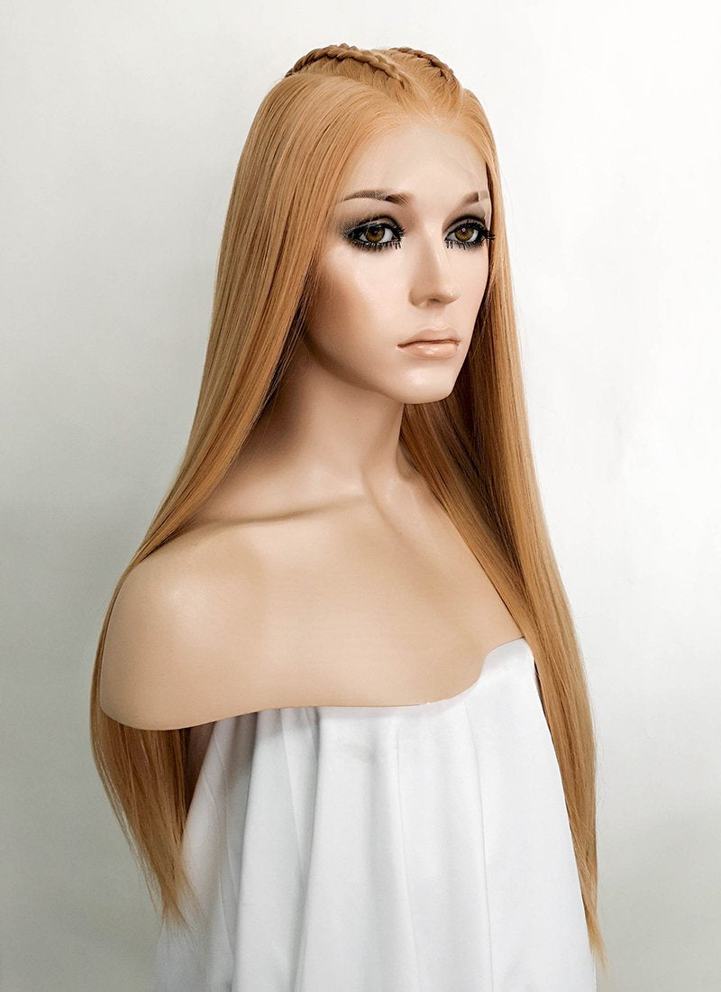 "Blonde Braided 13"" x 6"" Lace Front Synthetic Wig LF2061"