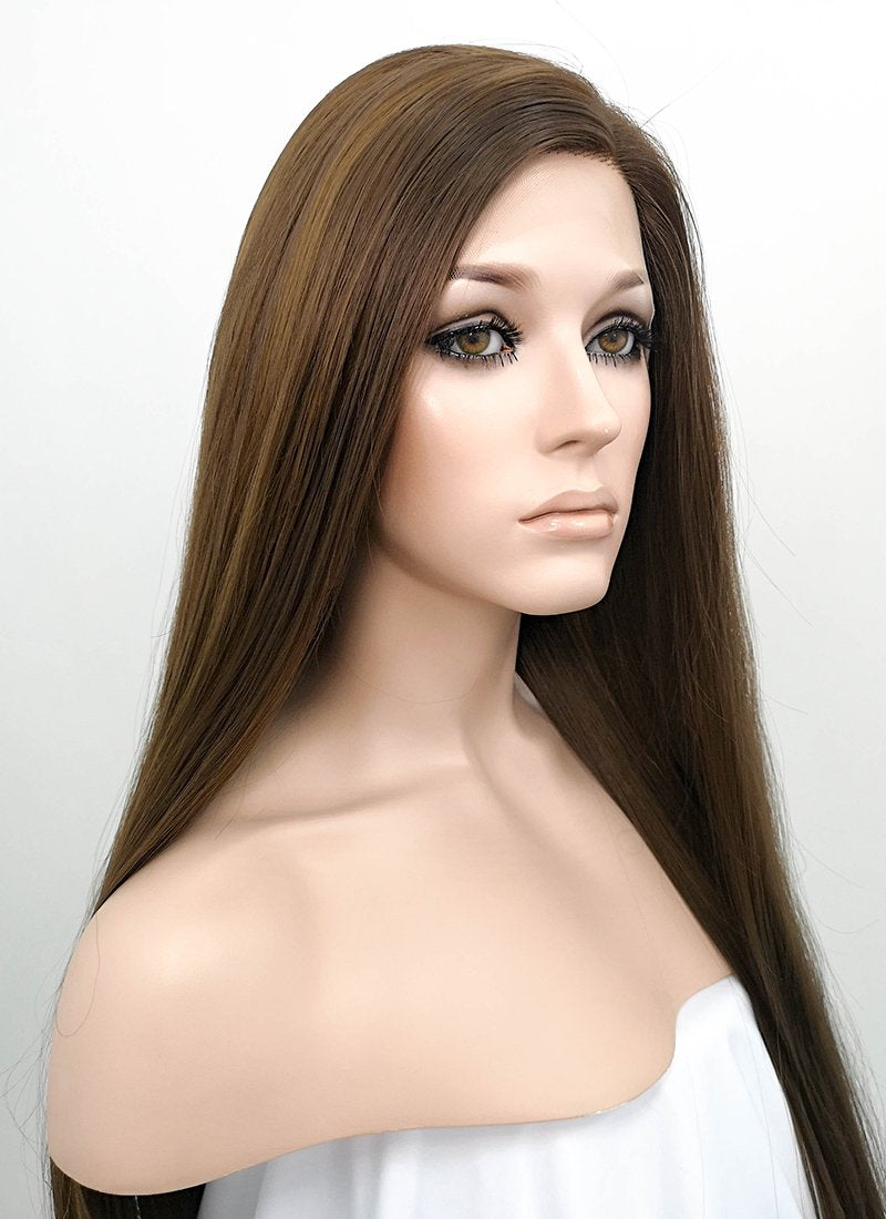 Straight Brunette Lace Wig CLF242 (Customisable)