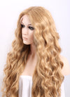 Wavy Golden Blonde Lace Front Synthetic Wig LF244