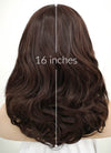 Brunette Wavy Bob Lace Front Synthetic Wig LF254
