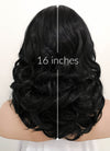 Jet Black Wavy Bob Lace Front Synthetic Wig LF257