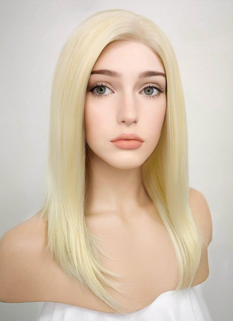 Light Blonde Straight Bob Lace Front Synthetic Wig LF269