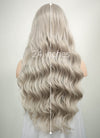 Pastel Mixed Grey Wavy Lace Front Synthetic Wig LF291