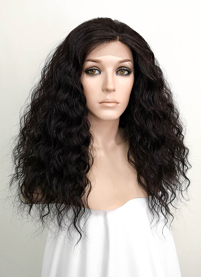 Black Wavy Lace Front Synthetic Wig LF3132