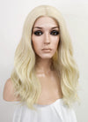Light Blonde Wavy Lace Front Synthetic Wig LF3154