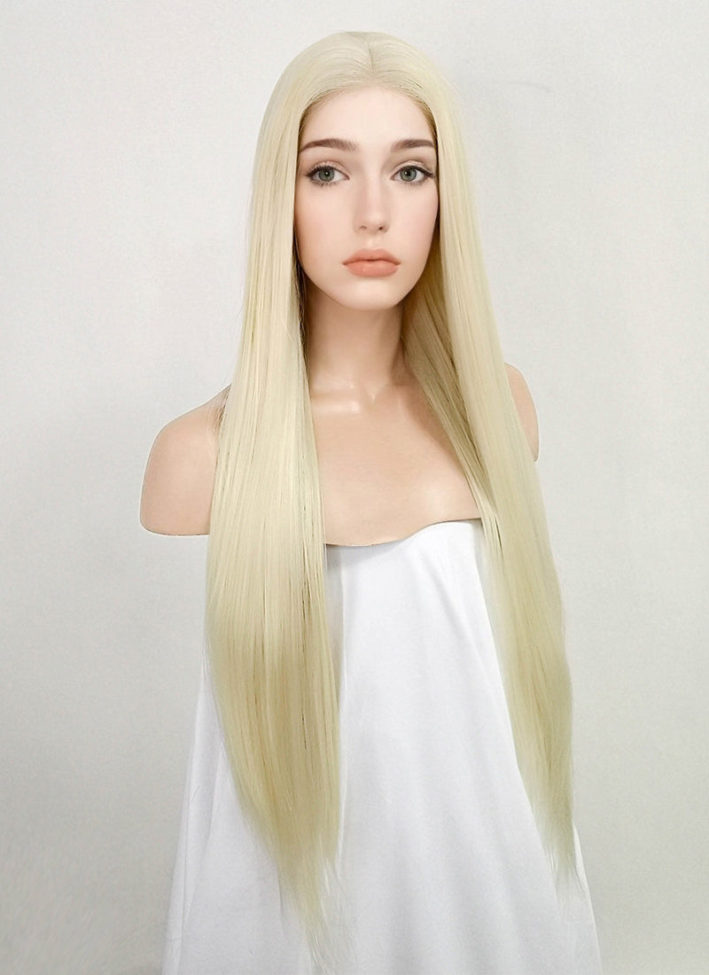 Light Blonde Straight Lace Front Synthetic Wig LF3155