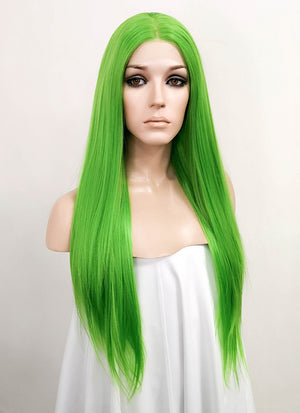 Green Straight Lace Front Synthetic Wig LF3170