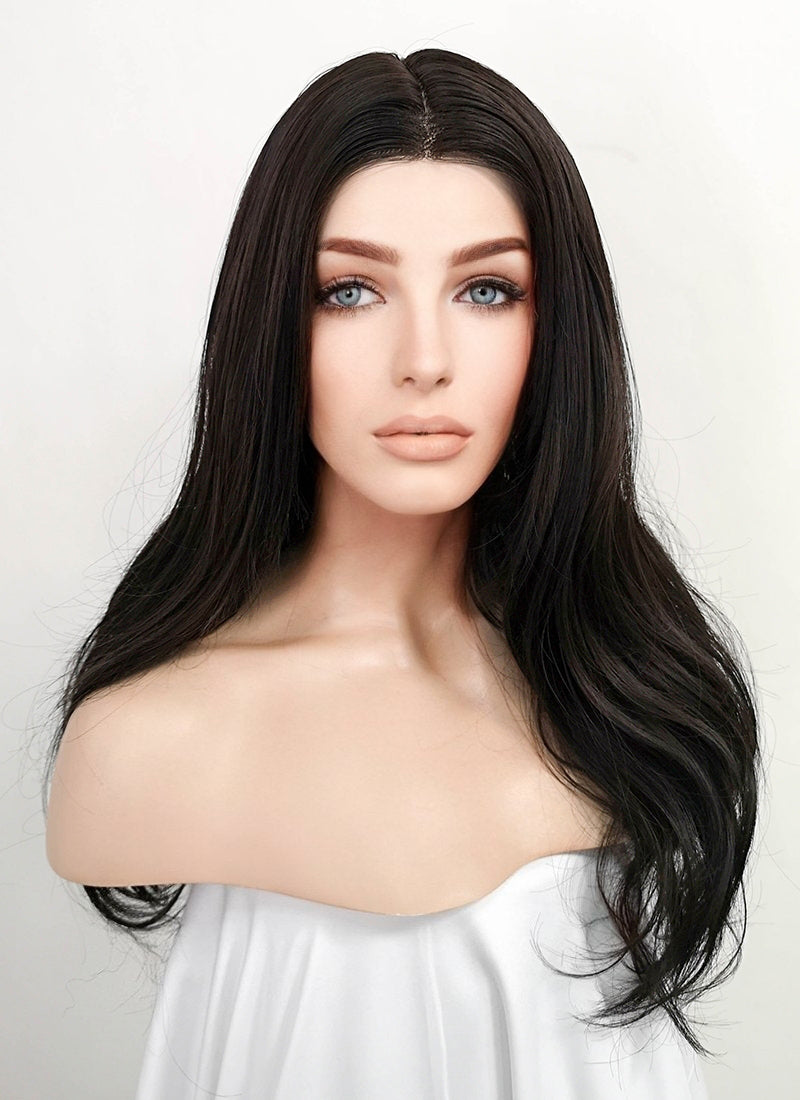 Brunette Wavy Lace Front Synthetic Wig LF3171