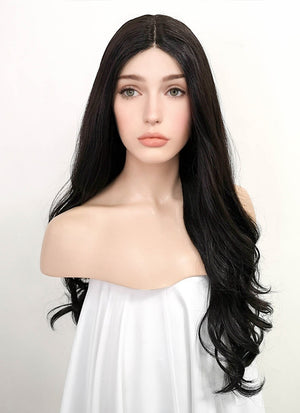 Black Wavy Lace Front Synthetic Wig LF3173