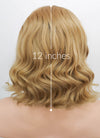 Medium Blonde Wavy Bob Lace Front Synthetic Wig LF326
