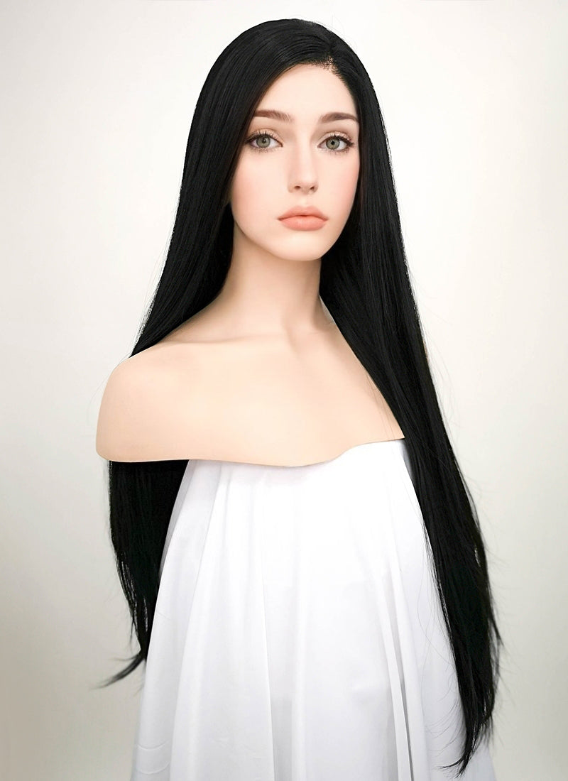 Straight Jet Black Lace Wig CLF327 (Customisable)