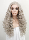 Pastel Grey Curly Lace Front Synthetic Wig LF374