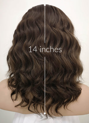 Brunette Wavy Bob Lace Front Synthetic Wig LF407