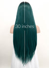 Green With Dark Roots Straight Lace Front Synthetic Wig LF5005