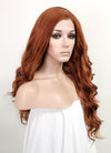 Auburn Wavy Lace Front Synthetic Wig LF5020