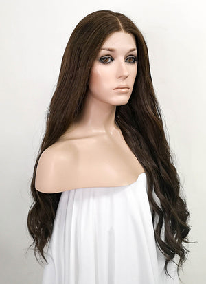 Brunette Wavy Lace Front Synthetic Wig LF5031