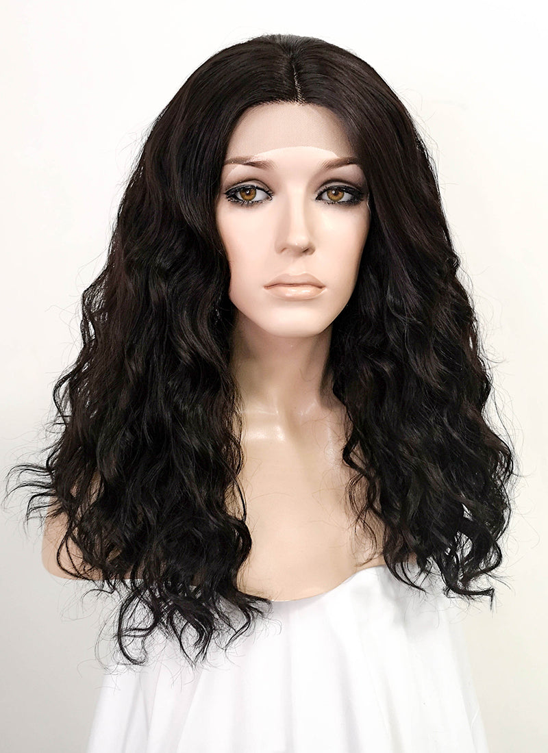 Black Wavy Lace Front Synthetic Wig LF5037