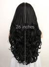 Black Wavy Lace Front Synthetic Wig LF5047