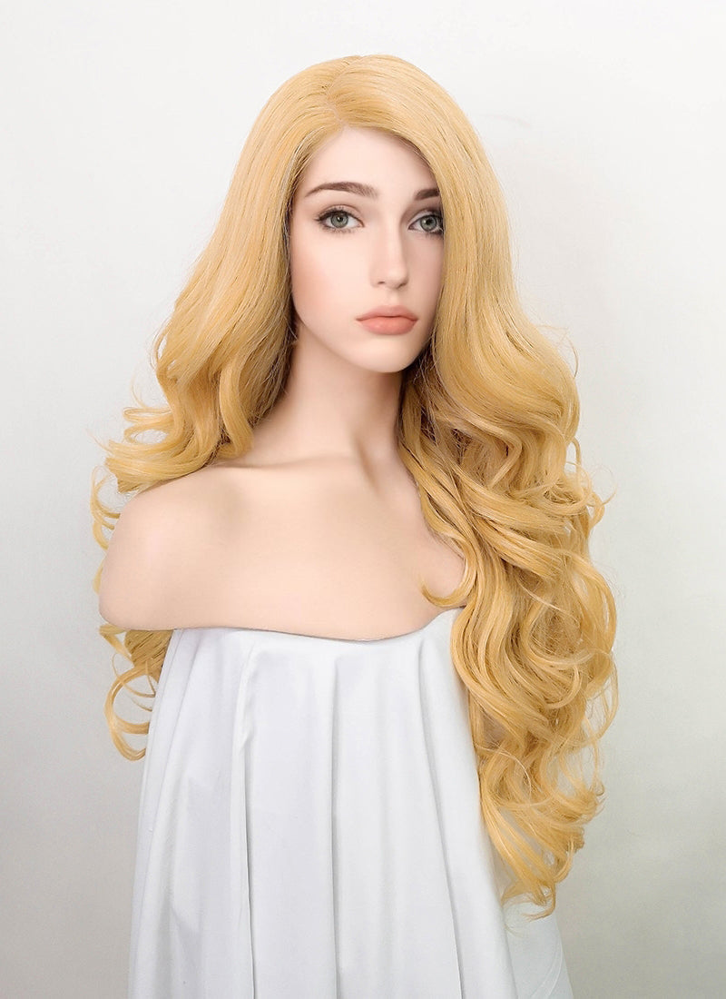Blonde Wavy Lace Front Synthetic Wig LF5059