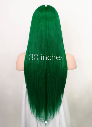 Green Straight Lace Front Synthetic Wig LF5061