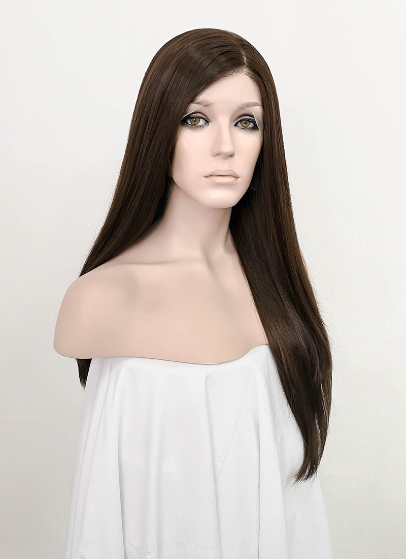 Brunette Straight Lace Front Synthetic Wig LF5063