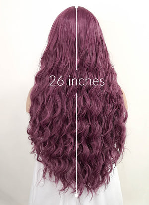 Purple Wavy Lace Front Synthetic Wig LF528