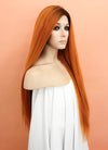 Light Auburn With Dark Roots Straight Lace Front Synthetic Wig LF624Q