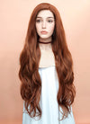 Auburn Wavy Lace Front Synthetic Wig LF640C