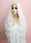 White Wavy Lace Front Synthetic Wig LF641B