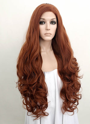 Wavy Auburn Lace Wig CLF667D (Customisable)