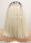 Straight Light Blonde With Dark Roots Bob Lace Wig CLF770A (Customisable)