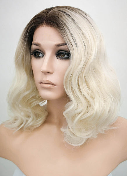 "Scarlett Johansson Inspired 14"" Dark Brown Mixed Light Blonde Ombre Lace Front Wig LF771"