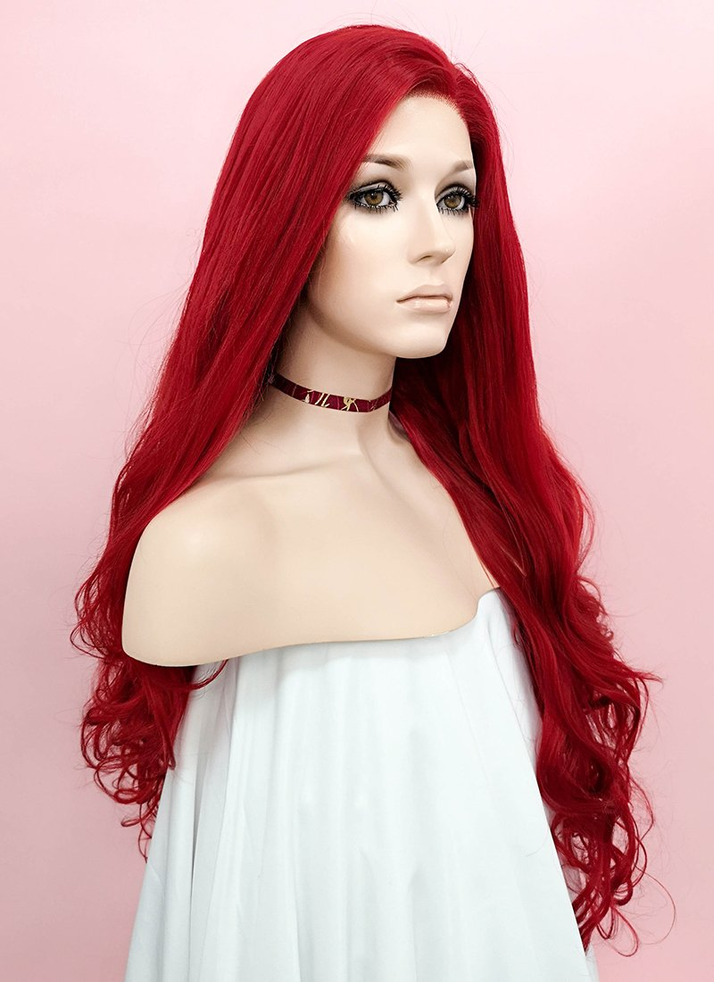 Wavy Red Lace Wig CLW809 (Customisable)