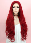 Wavy Red Lace Front Synthetic Wig LF809