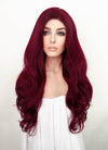Red Wavy Lace Front Synthetic Wig LF814A