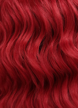 Red Wavy Bob Lace Front Synthetic Wig LFB408