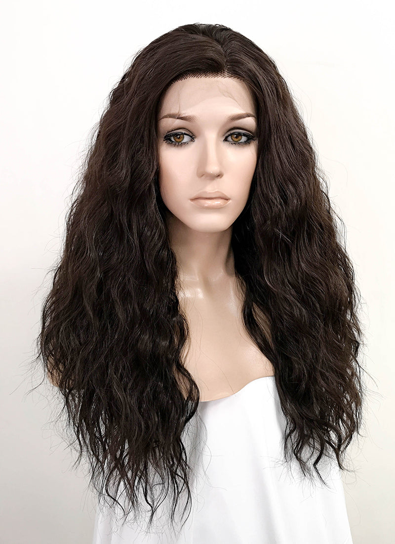 Black Wavy Lace Front Synthetic Wig LFK5510