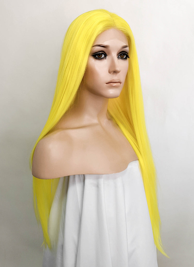 Yellow Straight Lace Front Synthetic Wig LF5524
