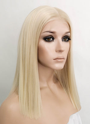 "Pastel Blonde Straight Bob 13"" x 6"" Lace Top Synthetic Wig LFK5529"