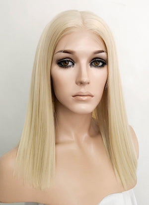 "Pastel Blonde Straight Bob 13"" x 6"" Lace Front Synthetic Wig LFK5529"