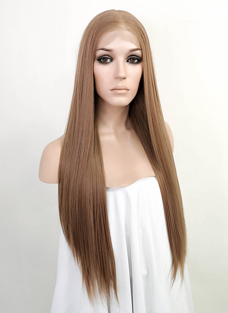 "Blonde Straight 13"" x 6"" Lace Front Synthetic Wig LFK5532"