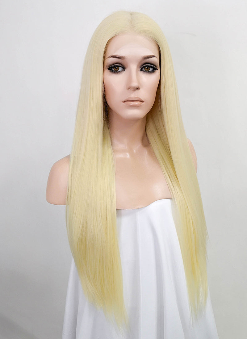 "Light Blonde Straight 13"" x 6"" Lace Top Synthetic Wig LFK5533"