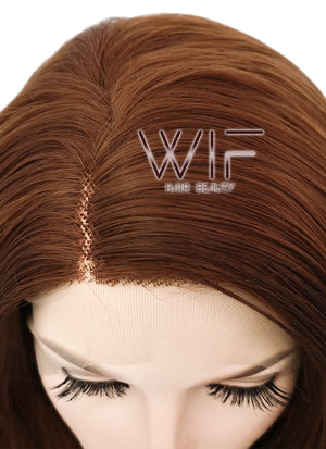 Chestnut Brown Wavy Bob Lace Front Synthetic Wig LF1537B