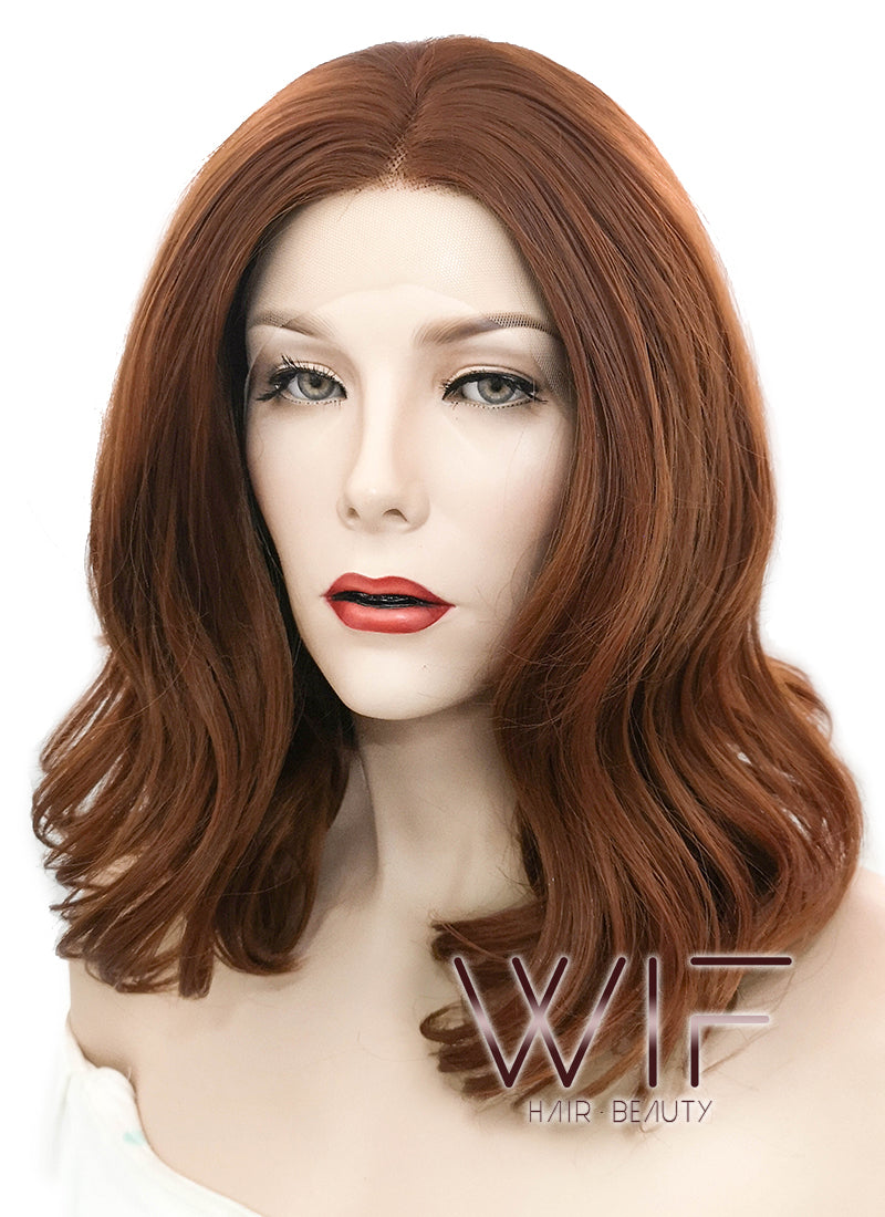 Auburn Wavy Lace Front Synthetic Wig LF1685 - Wig Is Fashion