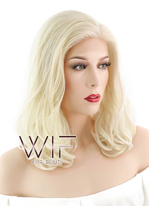 Blonde Wavy Bob Lace Front Synthetic Wig LF367