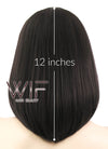 Black Mixed Brown Straight Bob Lace Front Synthetic Wig LF437