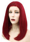 Red Straight Bob Lace Front Synthetic Wig LF819A