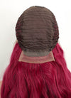 "Red Straight  13"" x 6"" Lace Top Synthetic Wig LFS003"